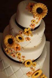 sunflower wedding decorations sunflower wedding cakes