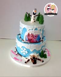 popular disney frozen themed cake buttercream cake