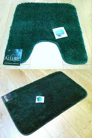 Dark Teal Bathroom Rugs by 2 Piece Set Plain Supersoft Bathroom Dark Green Bath Mat