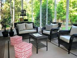 screened in porch furniture porch with wooden furniture screen