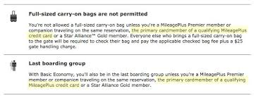 bag fee united do i still get my credit card perks on basic economy fares