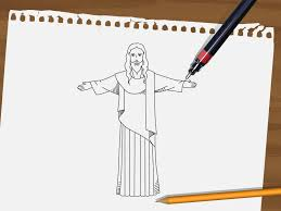 how to draw jesus 9 steps with pictures wikihow