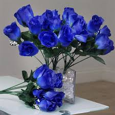 wedding flowers royal blue 84 artificial silk buds wedding flower bouquet centerpiece
