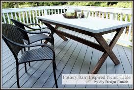 Pottery Barn Inspired Furniture Diy Design Fanatic Pottery Barn Inspired Picnic Table