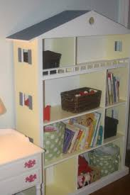 creative dollhouse bookshelves kids as attractive storage solution