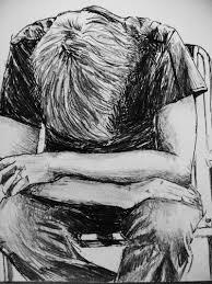 drawing boys sad image hd wallpapers sketch pencil sad boy simple