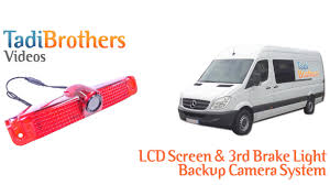 ford transit connect rear top third brake light l 3rd brake light and overhang backup camera systems for commercial