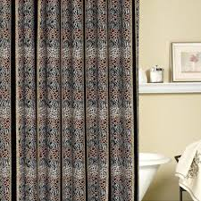 Paisley Shower Curtains Animal Skins Fabric Shower Curtain Threshold Blue And Brown