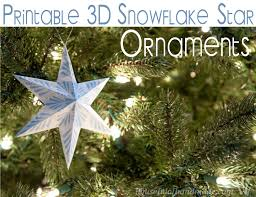 printable 3d snowflake ornaments oh my creative