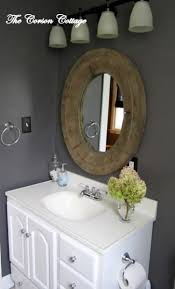 Grey Painted Bathroom Walls Remodelaholic Dark Gray Painted Fireplace Focal Wall