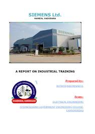 tarining report on siemens