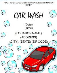 printable car wash flyer template free online flyers