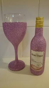wine sets dusky pink glitter mini wine bottle gift set available from www