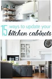ideas to update kitchen cabinets 15 amazing ways to redo kitchen cabinets lovely etc