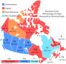 Create Electoral Map How The 2006 Federal Election Would Have Gone If Canada Used The