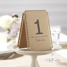table numbers wedding vintage affair kraft wedding table numbers