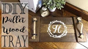 monogrammed tray diy pallet wood monogram tray