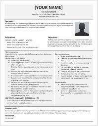 Accounting Resume Sample Junior Tax Accountant Resumes For Ms Word Resume Templates