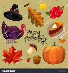 vector thanksgiving day symbols stock vector 330764600