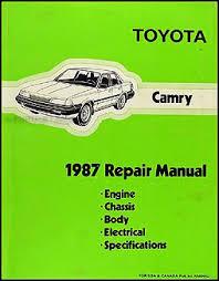 1993 toyota camry repair manual 1987 toyota camry repair shop manual original
