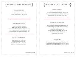 mother u0027s day menu my sweet and saucy my sweet and saucy