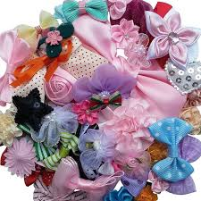 bulk ribbon mix bulk 50pcs ribbon flowers bows craft wedding ornament