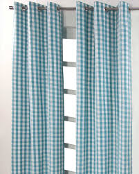 cotton block check ready made eyelet curtains homescapes