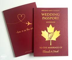 wedding invitations canada wedding passport invitations wedfest