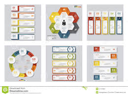 Idea Website by Collection Of 6 Design Template Graphic Or Website Layout Vector