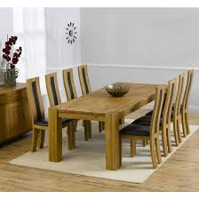 solid oak round dining table 6 chairs florence chunky solid oak 240cm dining table with 8 denver chairs