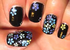easy floral nail tutorial using a dotting tool youtube