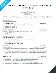 undergraduate college student resume exles engineering student resume exles