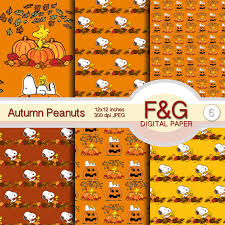 autumn peanuts digital paper autumn fall pumpkin halloween