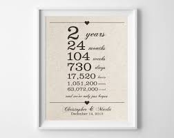 cotton anniversary gifts for him 2 years together cotton anniversary print 2nd anniversary