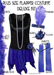 Big Tall Halloween Costumes 5x Sale Size Roaring 20 U0027s Black U0026 Blue Flapper Halloween