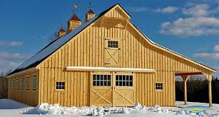 Barn Roof Styles by Prefab Horse Stalls Modular Barn Plans Horizon Structures