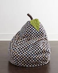 mackenzie childs courtly check bean bag chair