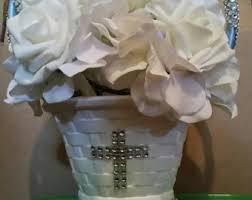 centerpieces for bautizo baptism centerpieces etsy