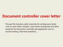 controller cover letter free resume templates document control