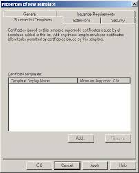 administering certificate templates