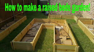 how to make a raised bed garden youtube