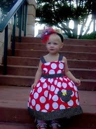 girls minnie mouse big red and white polka dot jumper dress