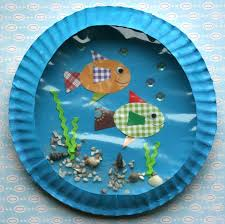 paper plate fish aquariums bricolages pinterest fish