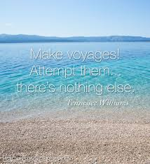 Make voyages Attempt them there s nothing else Travel quote by