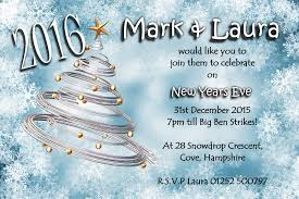 invitations for new years eve party 10 personalised new years eve party invitations no7