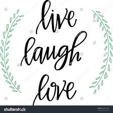 live laugh love hand lettered words stock vector 308175254