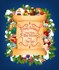 merry christmas and happy new year best wishes lettering on old