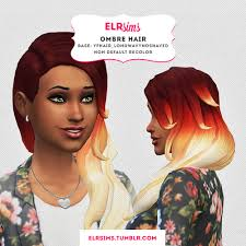 custom hair for sims 4 sims 4 custom hair ombre hair non default recolor inspired