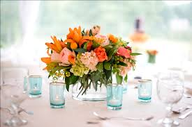small centerpieces creative idea party table decor with colorful floral table