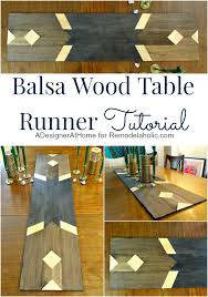 Balsa Wood Projects For Free by Remodelaholic How To Make A Modern Balsa Wood Table Runner